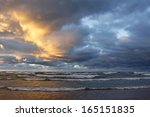 Storm Clouds Over A Lake Huron...