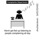 kevin got fed up with people... | Shutterstock . vector #165152432