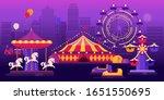 Amusement Park On City...