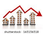 graph of the housing market | Shutterstock . vector #165156518