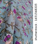 Small photo of Magenta Small Flower Color Print Fabric