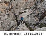 rock climber in spanish... | Shutterstock . vector #1651610695