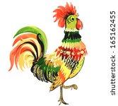 bird painted in the vector | Shutterstock .eps vector #165162455
