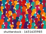 group of people wearing medical ... | Shutterstock .eps vector #1651635985