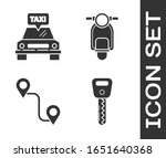set car key  taxi car  route... | Shutterstock .eps vector #1651640368