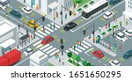smart transportation  people... | Shutterstock .eps vector #1651650295