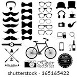 hipster style icon set | Shutterstock .eps vector #165165422
