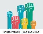 protest  revolution fight... | Shutterstock .eps vector #1651659265