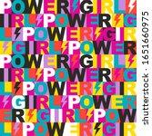 abstract seamless girl power...   Shutterstock .eps vector #1651660975