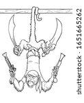 Monkey Pirate With Pistols...