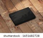 black box mockup on wooden...   Shutterstock . vector #1651682728