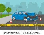 driving a car. do not cross... | Shutterstock .eps vector #1651689988