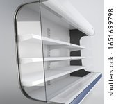 Empty Supermarket Refrigerator...