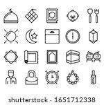islamic line art icons set.... | Shutterstock .eps vector #1651712338