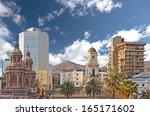 santiago de chile downtown ... | Shutterstock . vector #165171602