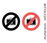 no bag  baggage icon. simple...