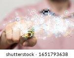 touch screen technology. future ...   Shutterstock . vector #1651793638