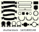 vector hand drawn ribbons ... | Shutterstock .eps vector #1651800148
