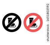 no skates icon. simple glyph ...