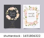 elegant wedding invitation card ...   Shutterstock .eps vector #1651806322