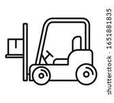 forklift icon. outline forklift ... | Shutterstock .eps vector #1651881835