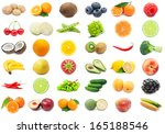 collection of various fruits... | Shutterstock . vector #165188546