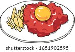 this is korean style raw beef... | Shutterstock .eps vector #1651902595