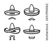 sombrero set. collection icon... | Shutterstock .eps vector #1651904062