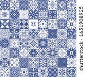 big vector set of tiles in... | Shutterstock .eps vector #1651908925
