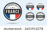 made in france. set of labels... | Shutterstock .eps vector #1651913278