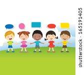 world kids friends ...   Shutterstock .eps vector #165191405