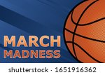 march basketball madness. men's ... | Shutterstock .eps vector #1651916362
