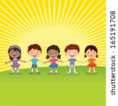 children's rights.... | Shutterstock .eps vector #165191708