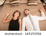 happy young couple relaxing in... | Shutterstock . vector #165192506