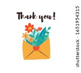 cute envelope with flowers ... | Shutterstock .eps vector #1651954315
