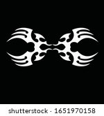 tribal art tattoo set with... | Shutterstock .eps vector #1651970158
