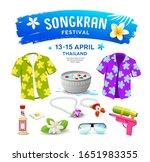 songkran festival thailand...   Shutterstock .eps vector #1651983355