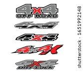 4x4 logo for 4 wheel drive... | Shutterstock .eps vector #1651992148