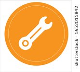 wrench crossed icon in flat...