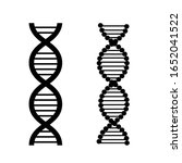 dna vector icon set. biology... | Shutterstock .eps vector #1652041522