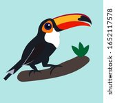 toucan bird cartoon character.... | Shutterstock .eps vector #1652117578