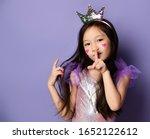 Cute Asian Korean Kid Girl...