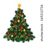 christmas tree  | Shutterstock . vector #165212726