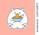 Cute Happy Funny White Bear Ea...