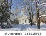 Country Church In Winter ...