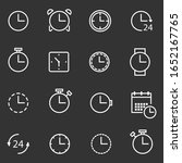 time  clock related icons  thin ...