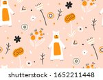 childish seamless pattern with... | Shutterstock .eps vector #1652211448