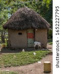 a traditional mud hut with a... | Shutterstock . vector #1652227795
