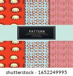 panda art kids pattern vector  | Shutterstock .eps vector #1652249995
