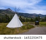 Unusual Campsite With Teepee...
